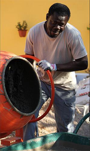 Trabajador inmigrante africano